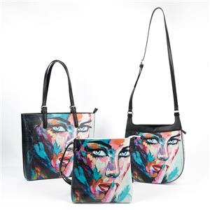 Human Face Oil Painting Tote Bag Set Painting Sling Bag