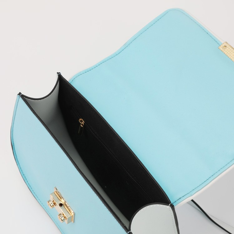Office Lady Hand Bag Light Blue Shoulder Bag With Metal Buckle Manufacturers, Office Lady Hand Bag Light Blue Shoulder Bag With Metal Buckle Factory, Supply Office Lady Hand Bag Light Blue Shoulder Bag With Metal Buckle
