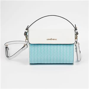 Wholesale Triangle Handbag Blue White Top Handle Crossbody Bag