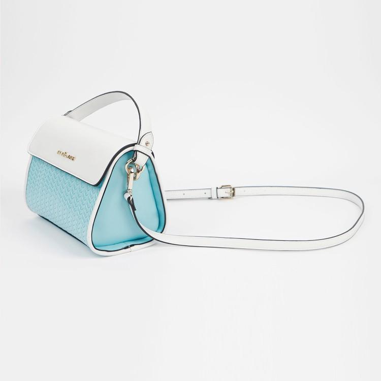 Wholesale Triangle Handbag Blue White Top Handle Crossbody Bag Manufacturers, Wholesale Triangle Handbag Blue White Top Handle Crossbody Bag Factory, Supply Wholesale Triangle Handbag Blue White Top Handle Crossbody Bag