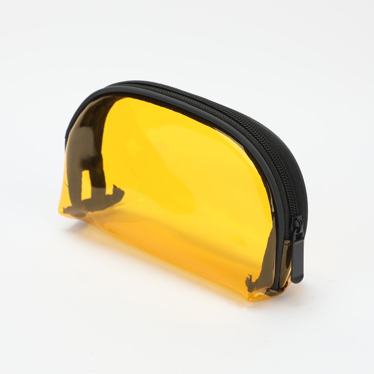 Clear PVC Mini Bag Translucent Yellow Cosmetic Makeup Bag