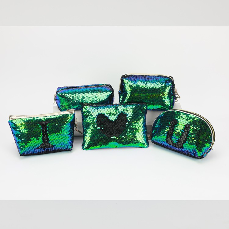 Sequins Shell Cosmetic Bag Green Blue Glitter Clutch Ladies Pouch Manufacturers, Sequins Shell Cosmetic Bag Green Blue Glitter Clutch Ladies Pouch Factory, Supply Sequins Shell Cosmetic Bag Green Blue Glitter Clutch Ladies Pouch