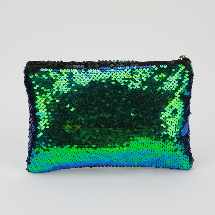 Green Blue Sequins Cosmetic Bag Bling Glitter Clutch Manufacturers, Green Blue Sequins Cosmetic Bag Bling Glitter Clutch Factory, Supply Green Blue Sequins Cosmetic Bag Bling Glitter Clutch
