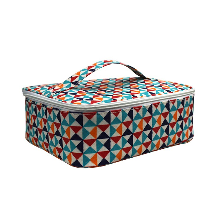Large Sqaure Colorful Lunch Bag Portable Insulated Cooler Lunchbox