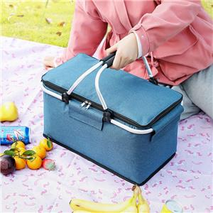 Outdoor Insulated Bucket Foldable Thick Picnic Lunch Bag