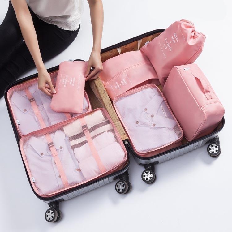 اكسسوارات السفر الموضة 7 في 1 مجموعة أكياس التعبئة المنظمين