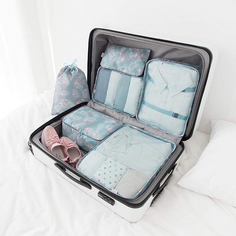 طقم حقائب سفر منظم من 6 قطع