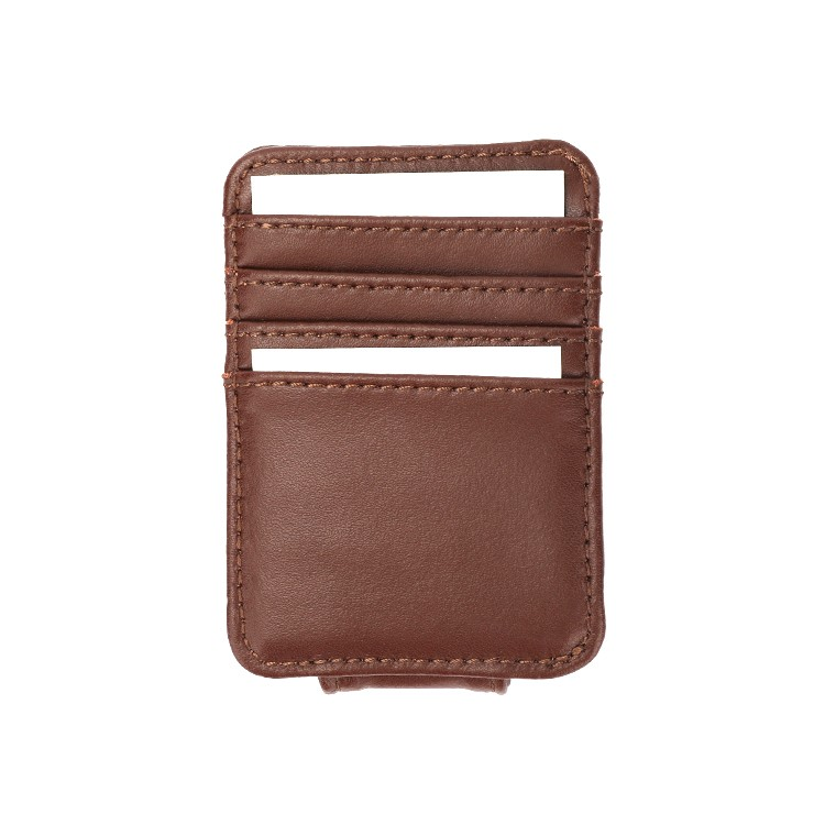 Credit Card Holder Slim Men's Wallet Leather Money Clip