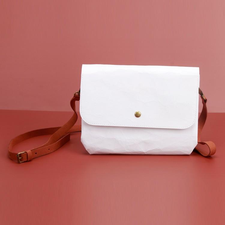 Cute White Kraft Paper Handbag Brown Handy Ladies Pouch