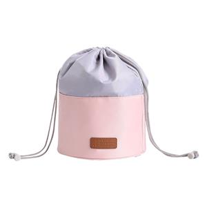 Ladies Round Travel Bucket Drawstring Bag Big Toiletry Bag