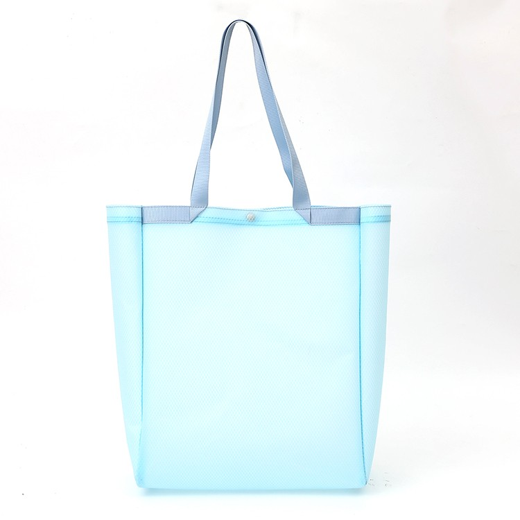 EVA Translucent Blue Pure Clear Shopping Bag 2 in 1 Set