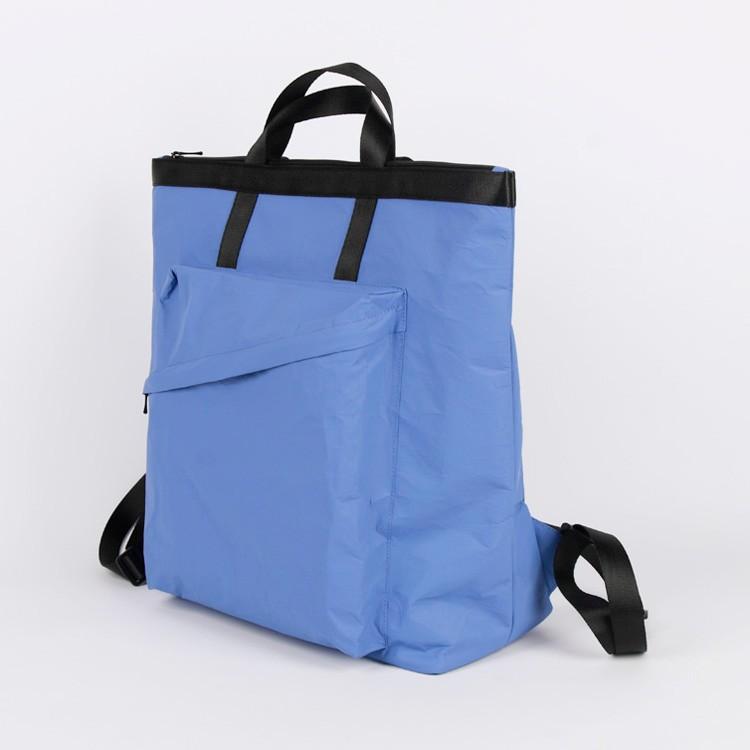 Tyvek Huge Shopping Tote Bag Blue Waterproof Beach Bag