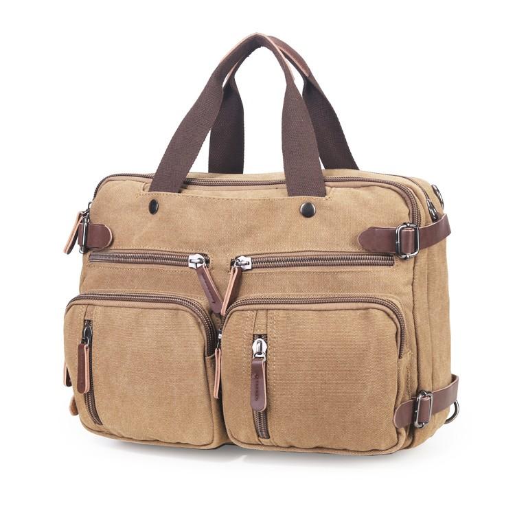Leisure Canvas Shoulder Bag Bussiness Huge Travel Laptop Bag