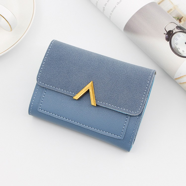 Small Leather Women Coin Purse Credit Card Holder Short Wallets