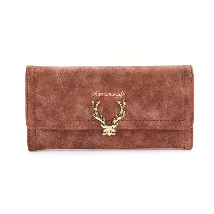 Tri-fold Long Ladies Purse Slim Credit Card Holder Clutch