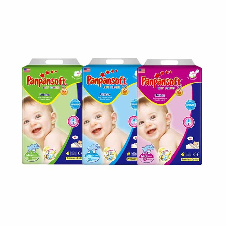 Soft Breathable Leak Guard Large Size Disposable Baby Diapers
