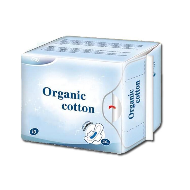 OEM Organic 100 Cotton Sanitary Napkins