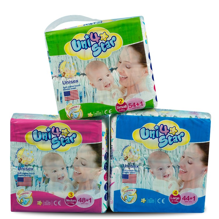 Wholesale Pampas Private Label Baby Nappy Ultra-Thin A Grade Baby Cotton Diaper