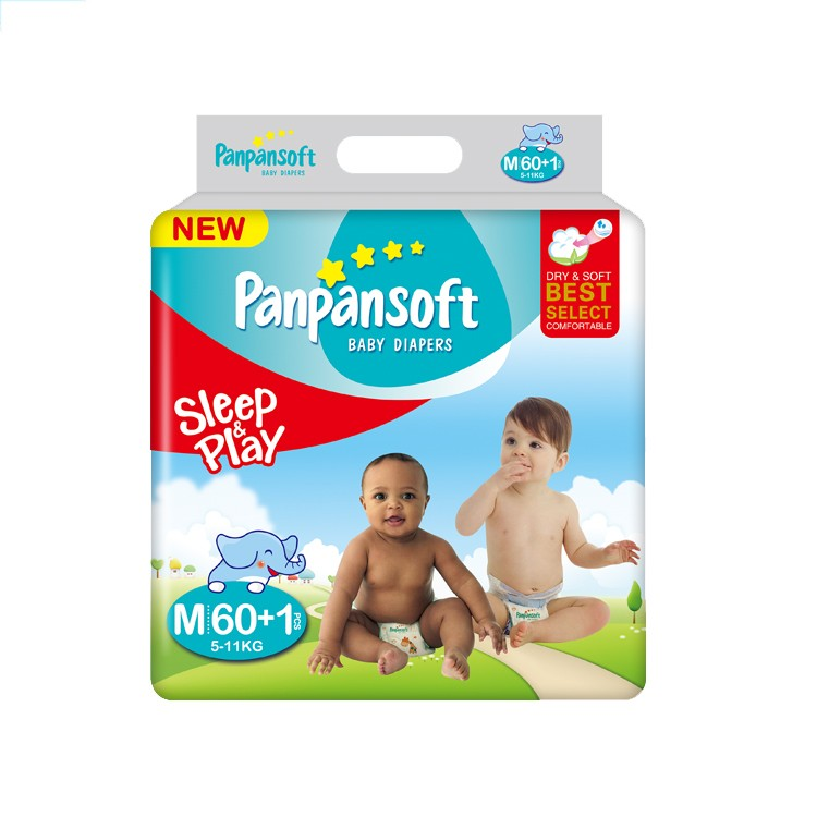 Hot Sale Baby Pampas High Absorbency Baby Nappies Disposable Baby Diaper