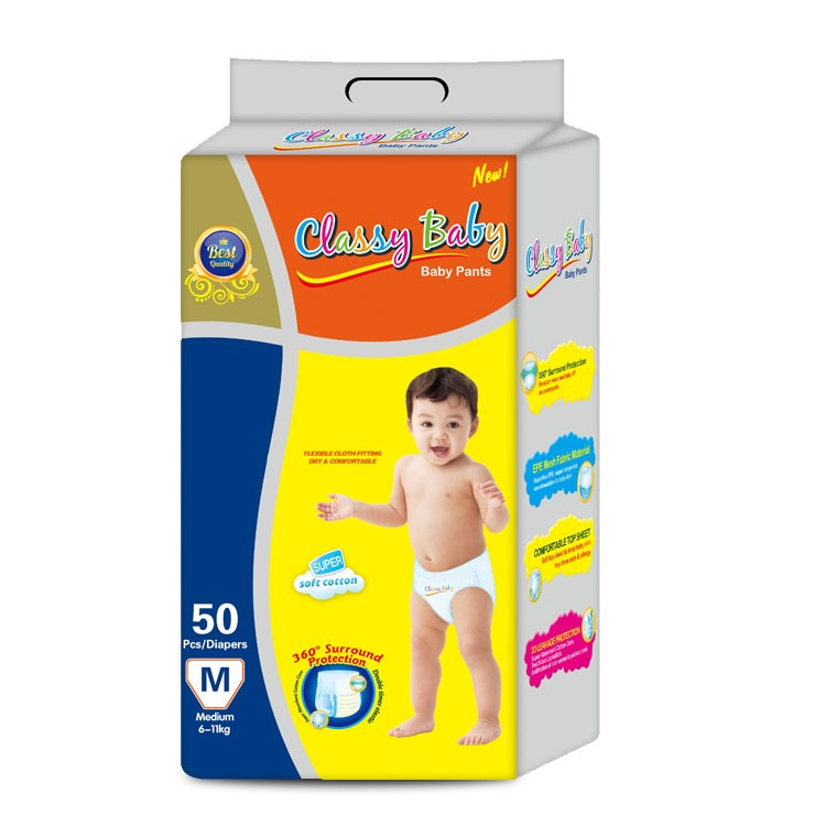 Training Diaper Pants Cotton Surface Disposable Nappies Baby Diaper Pants