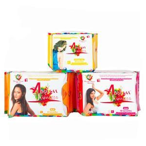 Absorventes higiênicos de algodão para mulheres
