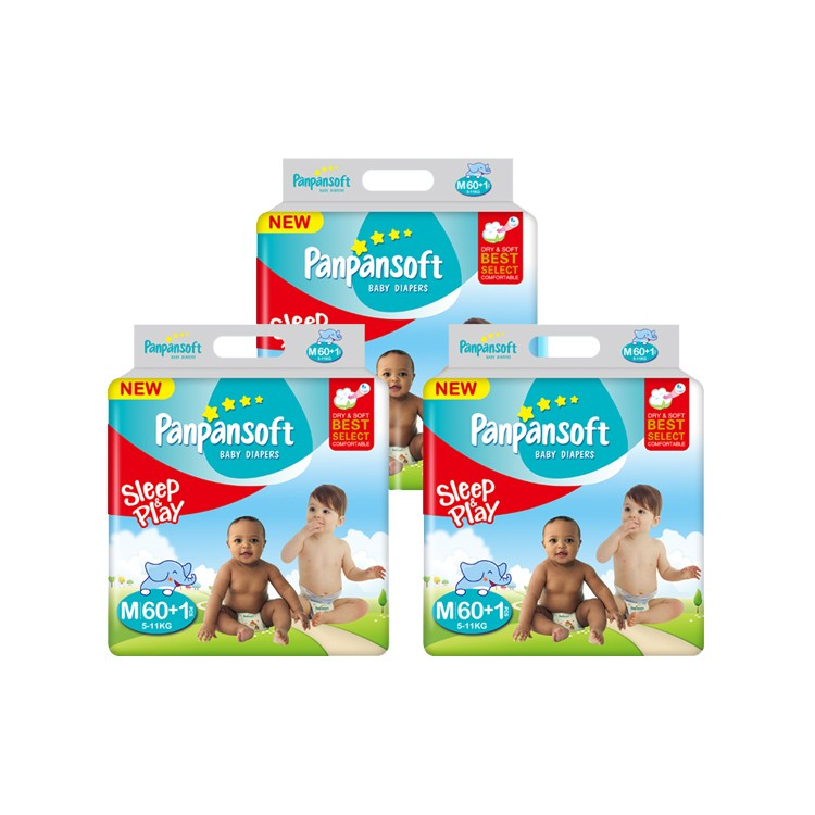 Colored Disposable Panal De Bebe Baby Diapers High Quality Kid Nappy