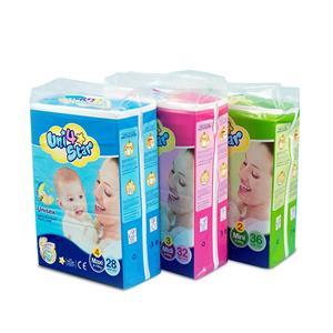Fraldas de embalagem transparente descartáveis fraldas de polpa para bebês