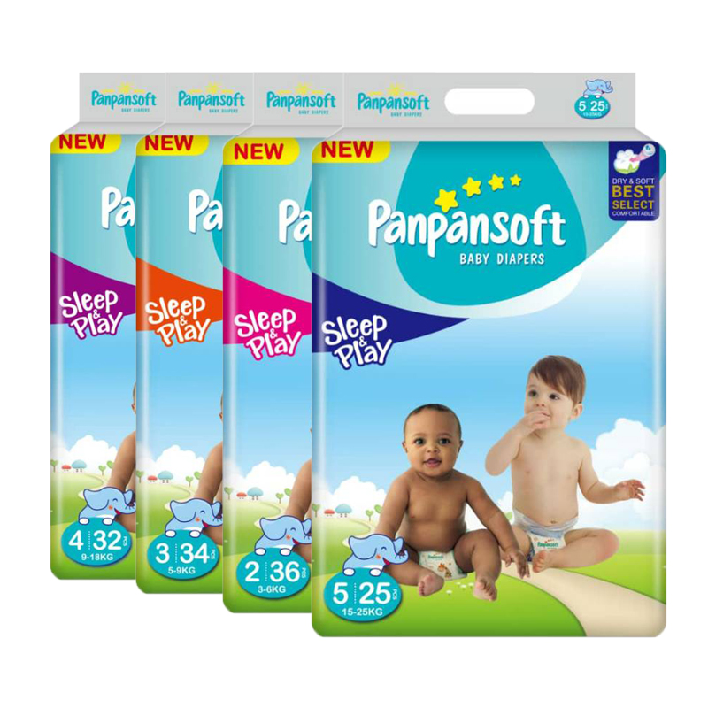 Panpansoft, Uni4star, Wholesale Children's Color Printing Topsheet Diapers for Baby Factory