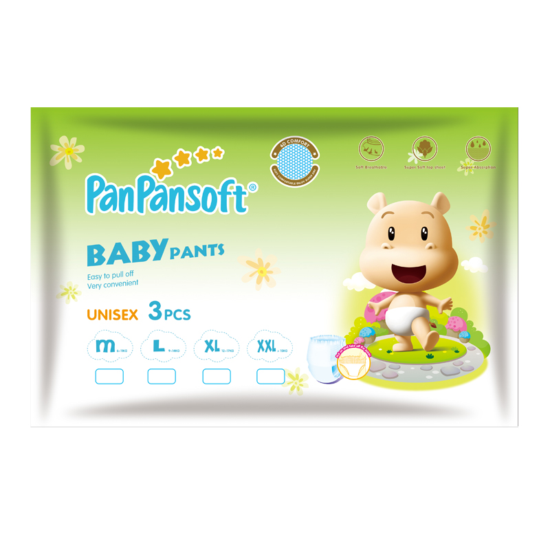 Trial pack celana bayi latihan popok seluar popok jenama Panpansoft