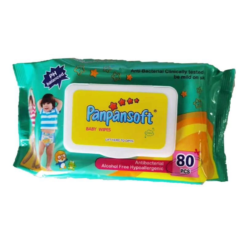 Harga kilang Label Persendirian Sampel Percuma pakai tisu basah bayi bukan tenunan OEM