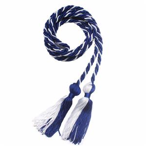 Royal Blue and White Honor Cords