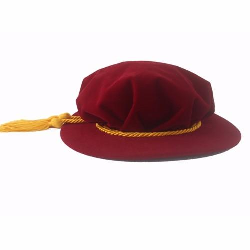 Bonnet Graduation Cap Red
