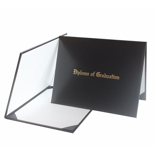 Diploma Of Graduation Certificate Cover Black