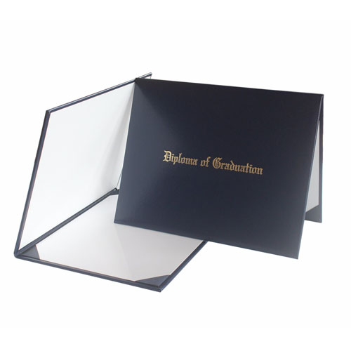 Diploma Of Graduation Degree Certificate Navy Blue