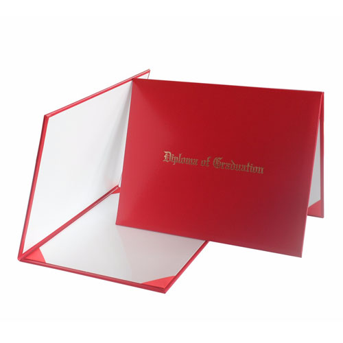 Diploma Of Graduation Diploma Certificate Red