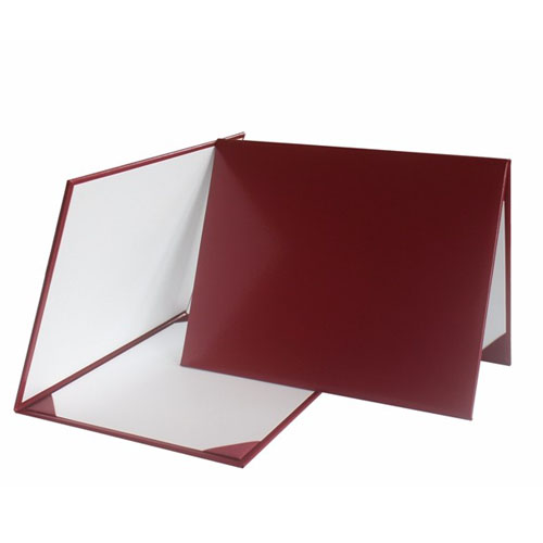 Smooth Certificate Holder Maroon