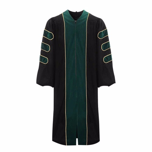 Premium Forest Green Doctoral Gown