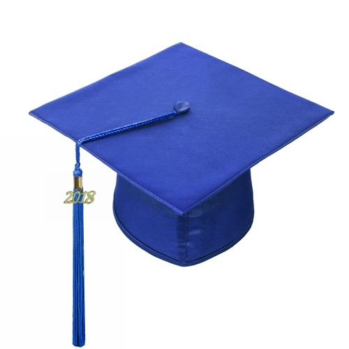 Shiny Royal Blue Graduation Cap Tassel