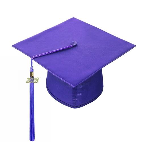 Shiny Purple Graduation Hat