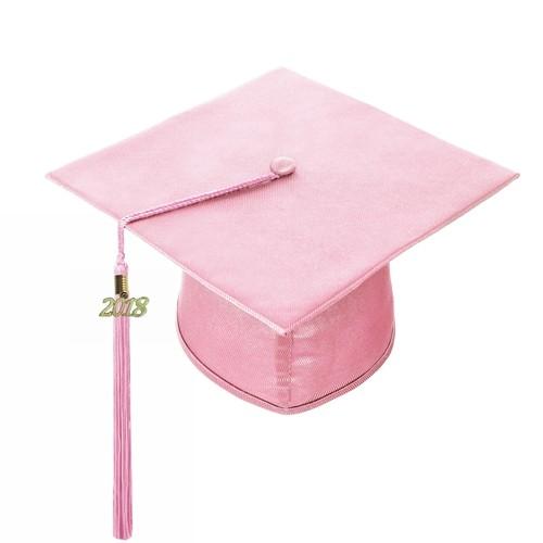 Shiny Pink Graduation Hat