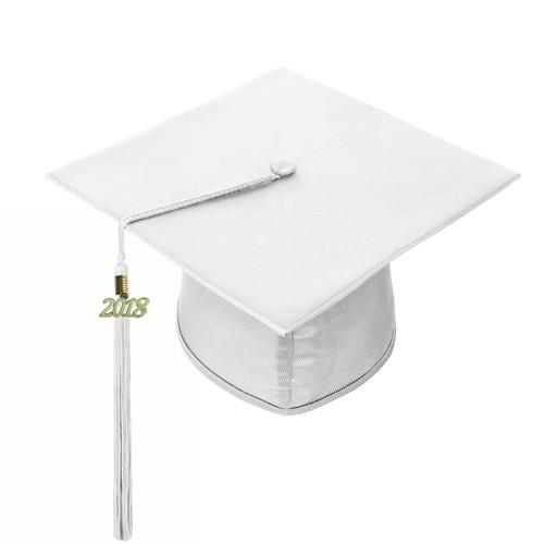 Shiny White Graduation Hat