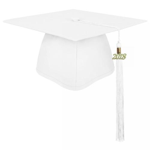 Matte White Graduation Cap for Children