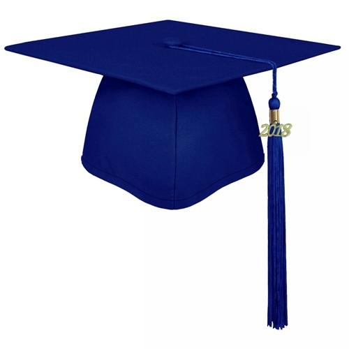 Matte Royal Blue Graduation Cap