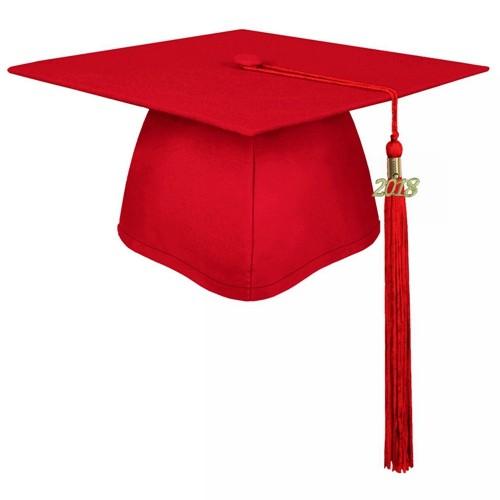 Matte Red Cap Graduation