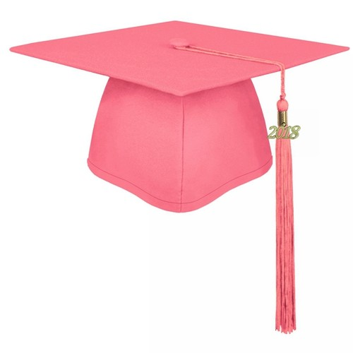 Matte Pink Graduation Cap
