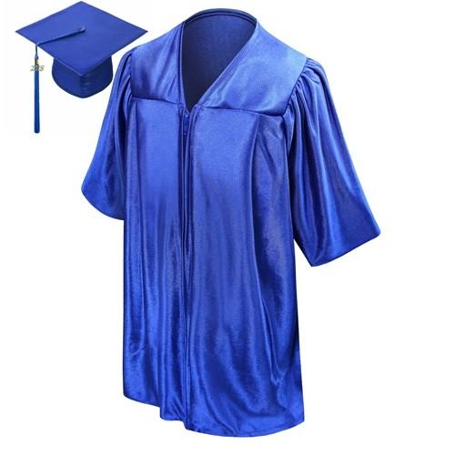 Shiny Royal Blue Kindergarten Graduation Cap Gown