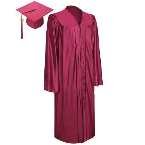 Shiny Maroon Graduation Uniform