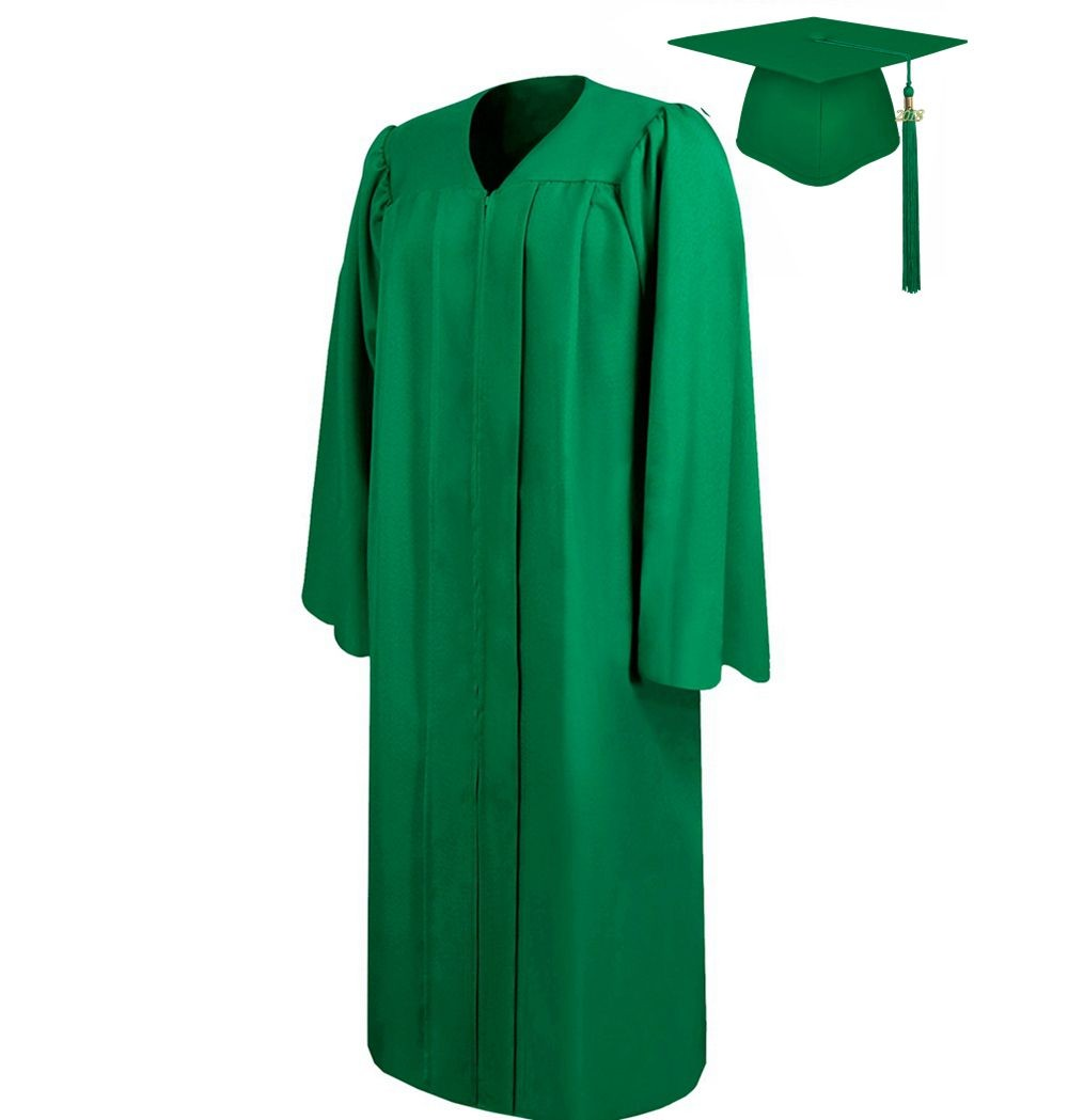 China High quality Matte Emerald Green Graduation Cap Gown Quotes ...