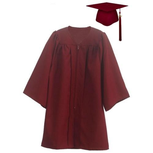 Excellent Matte Graduation Cap Gown For kids