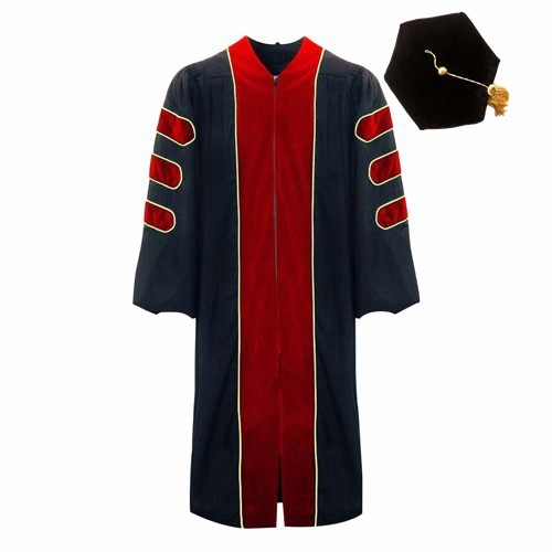 Popular Red Doctoral with Hexagon Cap